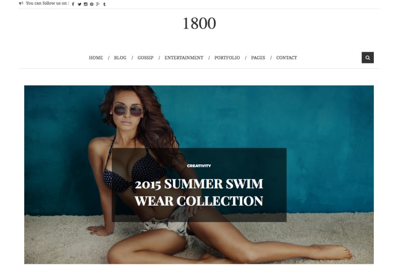 1800 Fashion Blogger Template. 1800 Fashion Blogger Template 2015 free blogger templates