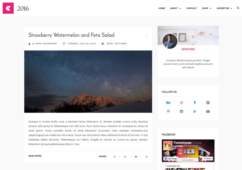 2016 Responsive Blogger Template. Free blogger template for blogspot blog. 2016 Responsive Blogger Template.