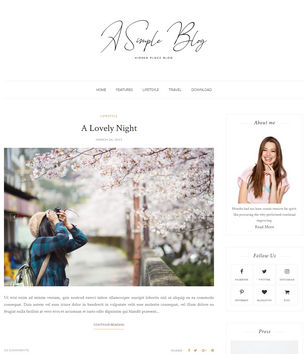 A Simple Blog Blogger Templates