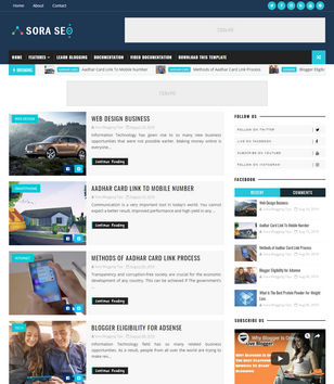 News Blogger Templates 2019 Free Download