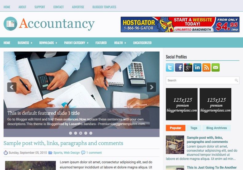 Accountancy Blue Blogger Template. Blogger Themes. Free Blogspot templates for your blogger blog. Best suitable for news blog templates. Ads ready blogspot templates help for add adsense ad code and easily showing adsence ads in your blog. Adapted from WordPress templates are converted from WordPress themes. It is help for take your rich. Blogger magazine template specially designed for magazine blogs. The writers can utilize this themes for take blog attractive to users. Elegant themes are more used themes in most of the blogs. Use minimalist blog templates for rich look for your blog. Free premium blogger themes means, themes authors release two types of themes. One is premium another one is free. Premium templates given for cost but free themes given for no cost. You no need pay From California, USA. $10 USD, or $20 USD and more. But premium buyers get more facilities from authors But free buyers. If you run game or other animation oriented blogs, and you can try with Anime blog templates. Today the world is fashion world. So girls involve to the criteria for make their life fashionable. So we provide fashion blogger themes for make your fashionable. News is most important concept of the world. Download news blogger templates for publishing online news. You can make your blog as online shopping store. Get Online shopping store blogger template to sell your product. Navigation is most important to users find correct place. Download drop down menu, page navigation menu, breadcrumb navigation menu and vertical dropdown menu blogspot themes for free. Google Guide to blogging tips and tricks for bloggers. Google bloggers can get blogspot trick and tips for bloggers. Blog templates portfolio professional blogspot themes, You can store your life moments with your blogs with personal pages templates. Video and movie blogs owners get amazing movie blog themes for their blogs. Business templates download. We publish blogger themes for photographers. Photographers easily share photos via photography blog themes. St valentine Christmas Halloween templates. Download Slideshow slider templates for free. Under construction coming soon custom blogspot template. Best beautiful high quality Custom layouts Blog templates from templateism, soratemplates, templatetrackers, simple, cute free premium professional unique designs blog themes blogspot themes. Seo ready portfolio anime fashion movie movies health custom layouts best download blogspot themes simple cute free premium professional unique designs xml html code html5.