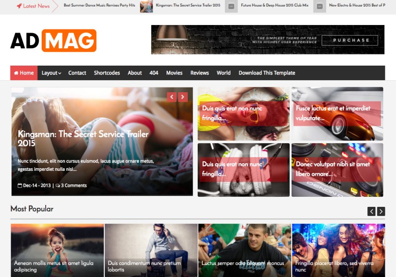 Ad Mag Blogger Template. Free download blogger templates for your blogspot blogs. Download Ad Mag Blogger Template for free.