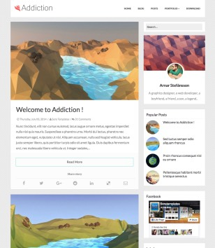 Addiction Responsive Blogger Templates