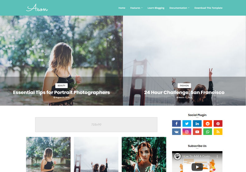 Aeon Blogger Template is a beautifully designed responsive stylish blogger theme with latest features and fast loading speed