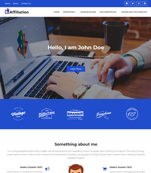 Affiliation Blogger Templates