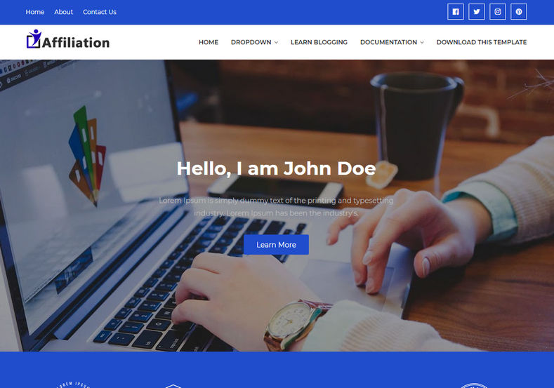 Affiliation Blogger Template is an amazing looking and uniquely built blogging blogger theme with user friendly design and seo friendly code