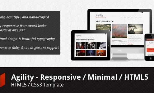 Agility - Responsive Minimal HTML5
