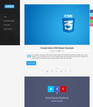 Aires Tech Blog Blogger Templates