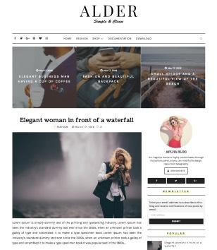 Alder Elegant Blogger Templates