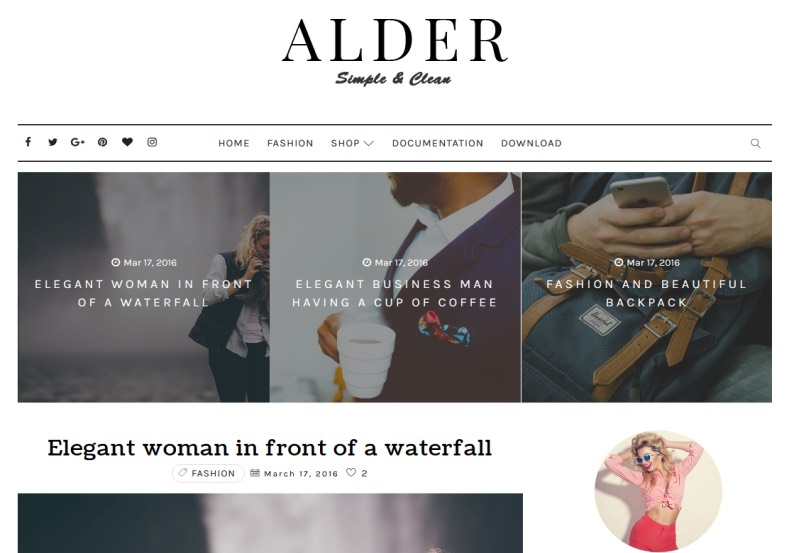 Alder Elegant Blogger Template Best quality Elegant and simple designed blogger templates 2018 Alder Elegant Blogger Template