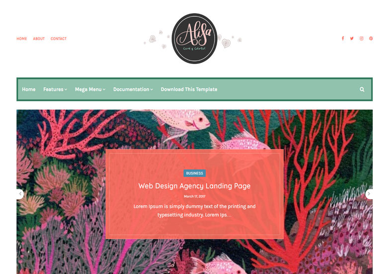 Alisa Blogger Template is a clean, elegant and colorful blogging blogspot theme with stylish design and attractive looks.