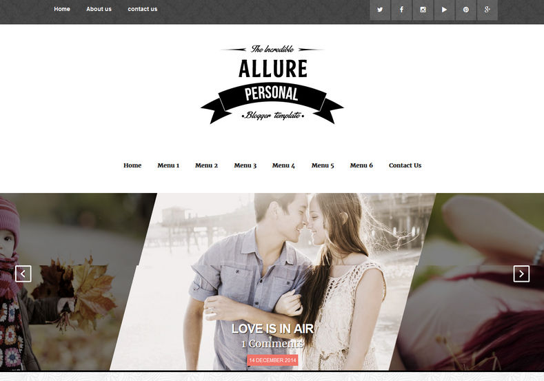 Allure Responsive Blogger Template best quality magazine and minimalist blogger and blogging themes 2018
