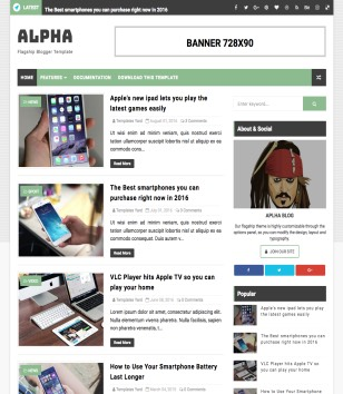 Alpha Blogger Templates