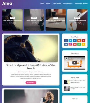 Alva Blogger Template
