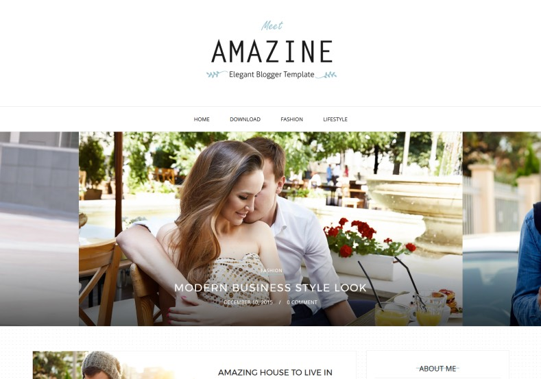 Amazine Modern Blogger Template. Best magazine blogspot themes for blogger blogspot template for free. Simple and best quality magazine template free Amazine Modern Blogger Template.
