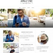 Amazine Simple Blogger Templates