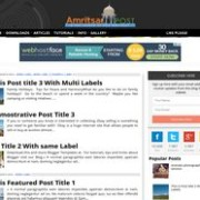 Amritsar Post Blogger Template