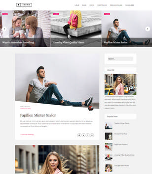 Andria Fashion Blogger Templates