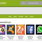 Androider Blogger Template