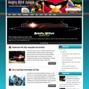 Angry Bird Space Blogger Templates