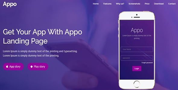 Appo - App Landing Page