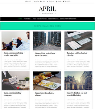 April Blogger Template