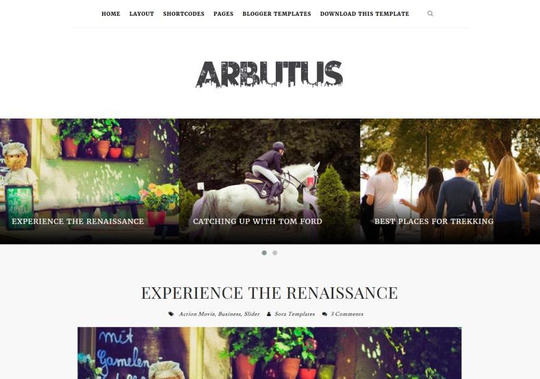 Arbutus Responsive Blogger Template. 2015 free blogger templates