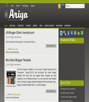 Ariya Blogger Templates
