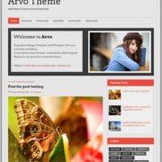 Arvo Theme Responsive Blogger Templates