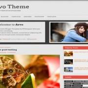 Arvo Theme Responsive blogger template