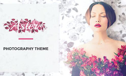 Aster - Feminine Photography Portfolio WordPress Theme