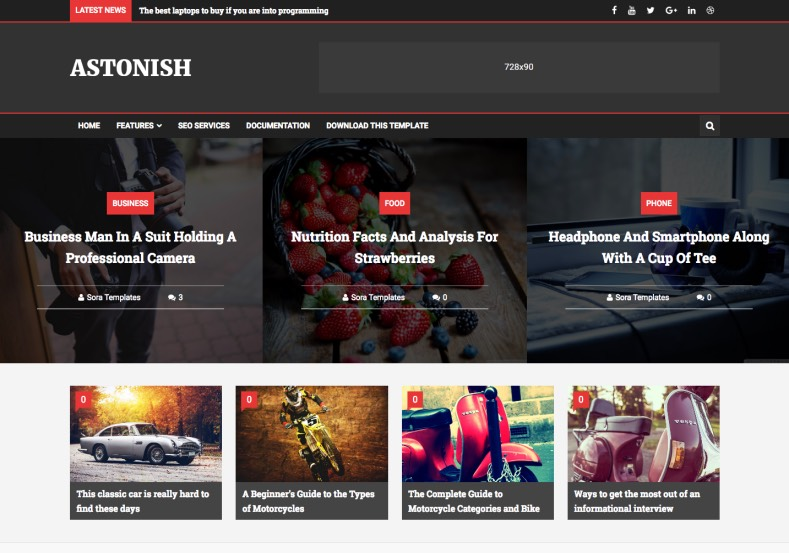 Astonish Blogger Template. Dark color blogger templates free download from gooyaabi templates. Magazine, technology blog themes free for bloggers. Astonish Blogger Template.