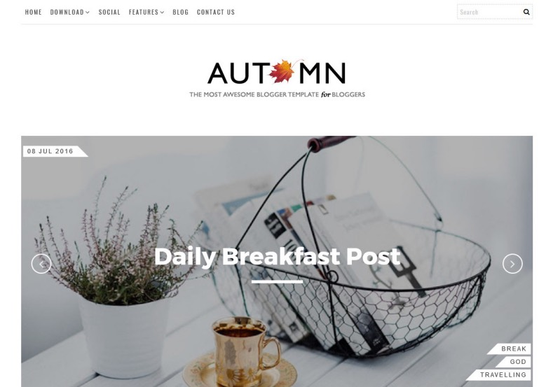 Autumn Blogger Template. Free blogger templates for your blogspot blog. Best quality free blogger themes from gooyaabitemplates.com. Create stunning blogger blog with free templates. Autumn Blogger Template