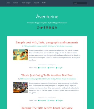 Aventurine Blogger Templates