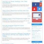 Awesome v3 Blogger Templates