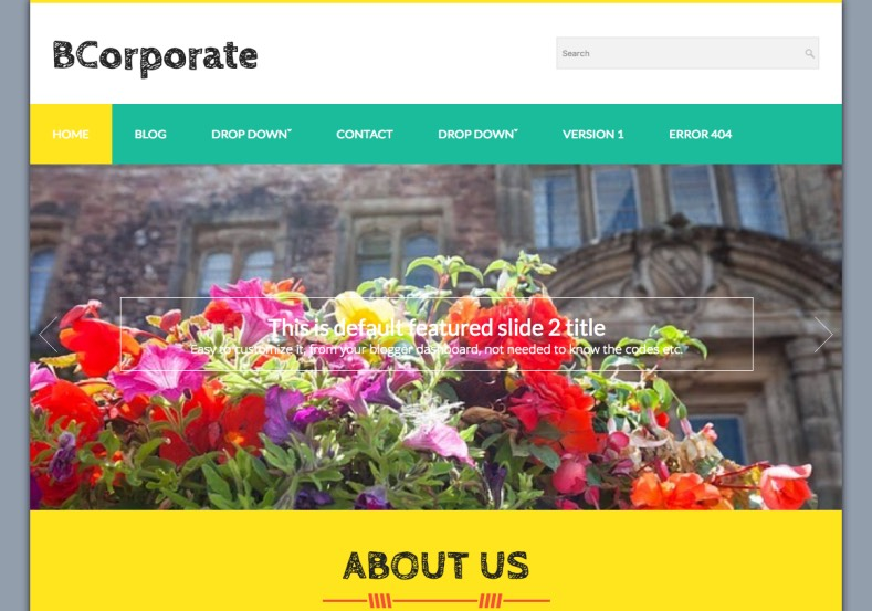 BCorporate Blogger Template