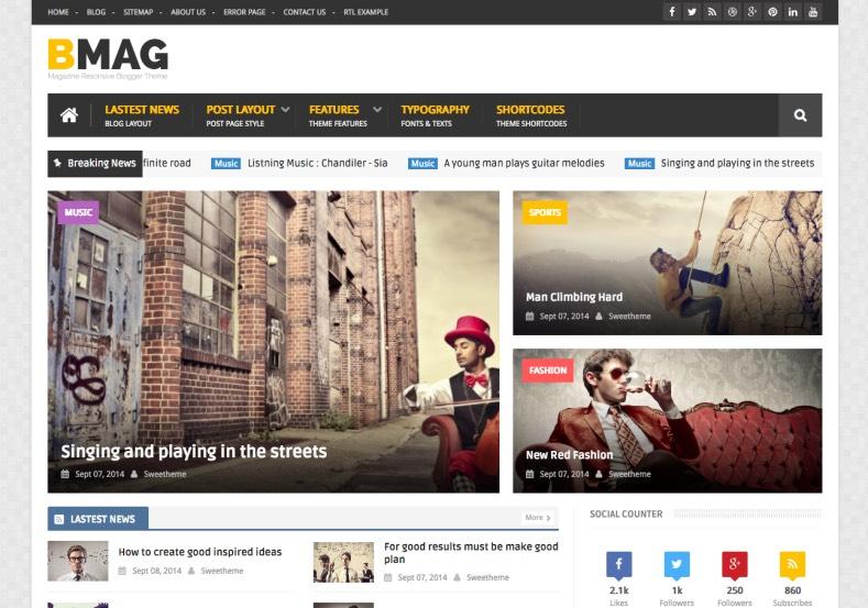 BMAG Blogger Template. BMAG Blogger Template 2015 BMAG Blogger Template premium blogger template