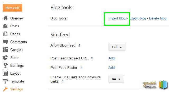 Back up and Restore Blogger-Blog