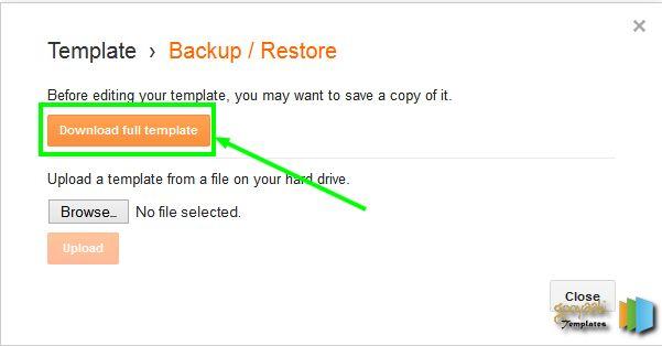 Backup Blogger Template