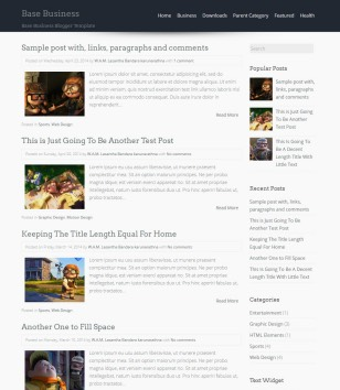 Base Business Blogger Templates