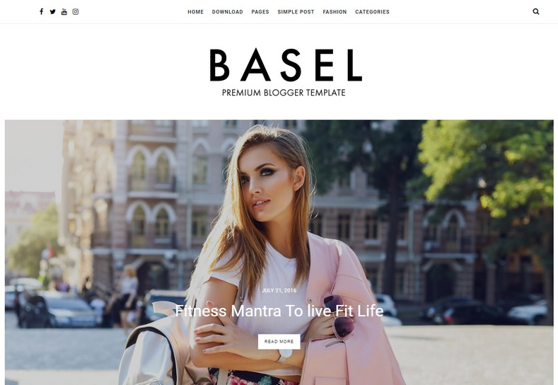 Basel Blogger Template is a clean and elegant looking blogspot theme with SEO-friendly design and fast loading speed