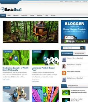 BasicDual Blogger Templates