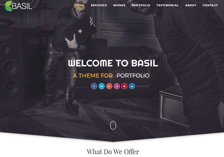 Basil Portfolio Blogger Template is a multipurpose portfolio blogger landing page with professional look and latest html5 and css3 features