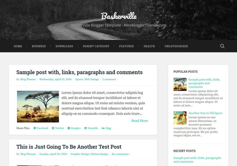 Harbaughfamilyconstruction Responsive: Baskerville Responsive Blogger Template • Blogspot