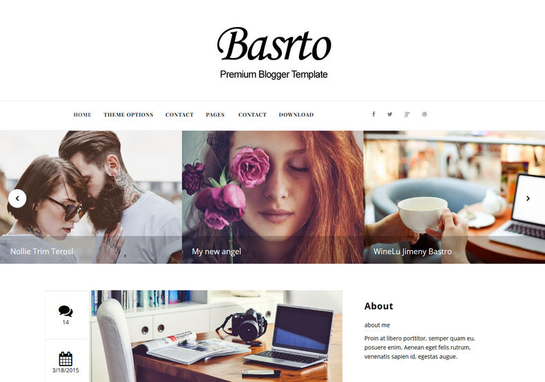 Bastro Blogger Template great looking and well designed blogspot themes 2017 and most powerful Bastro Blogger Template