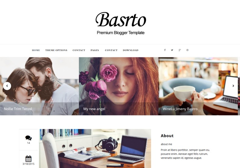 Bastro Mag Blogger Template. Free blogger templates 2015
