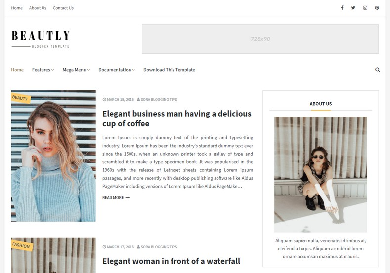 Beautly Blogger Template is a fast-loading blogspot theme whose sole focus is to present your content in the best possible way on any screen size.