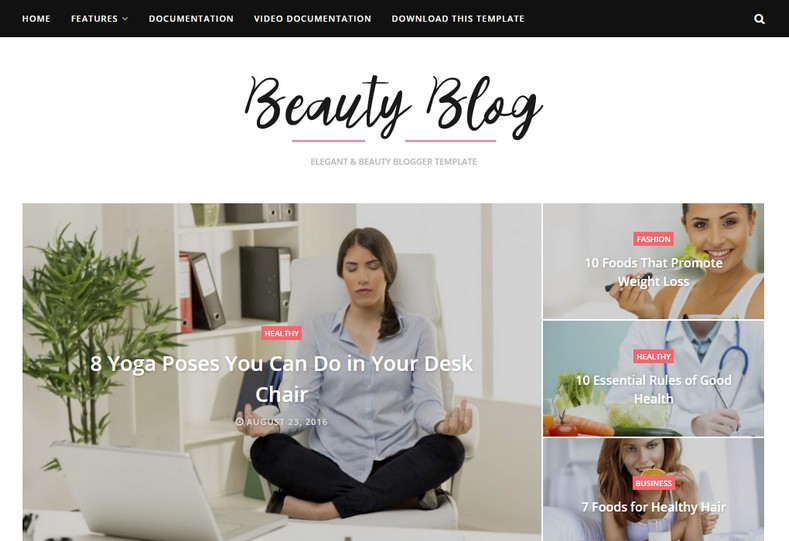 Beauty Blog Blogger Template is a beautiful and clean fast loading responsive blogging blogger theme with latest elegant features and seo friendly code