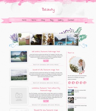 Beauty Blogger Templates