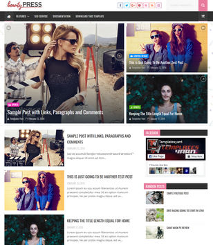 Beauty Press Blogger Templates